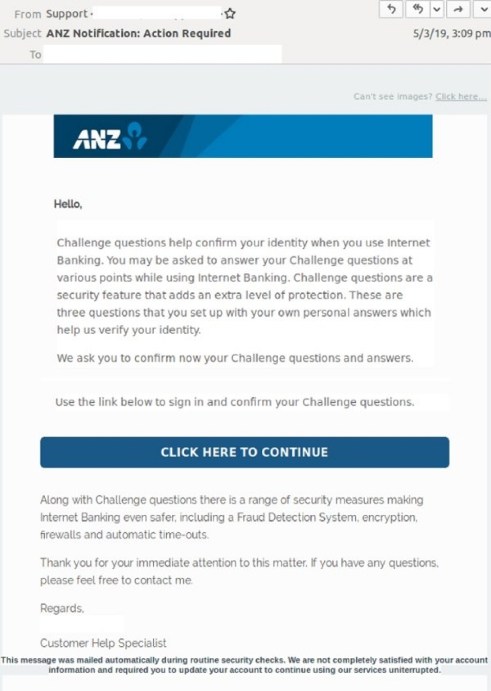 Latest security alerts   ANZ