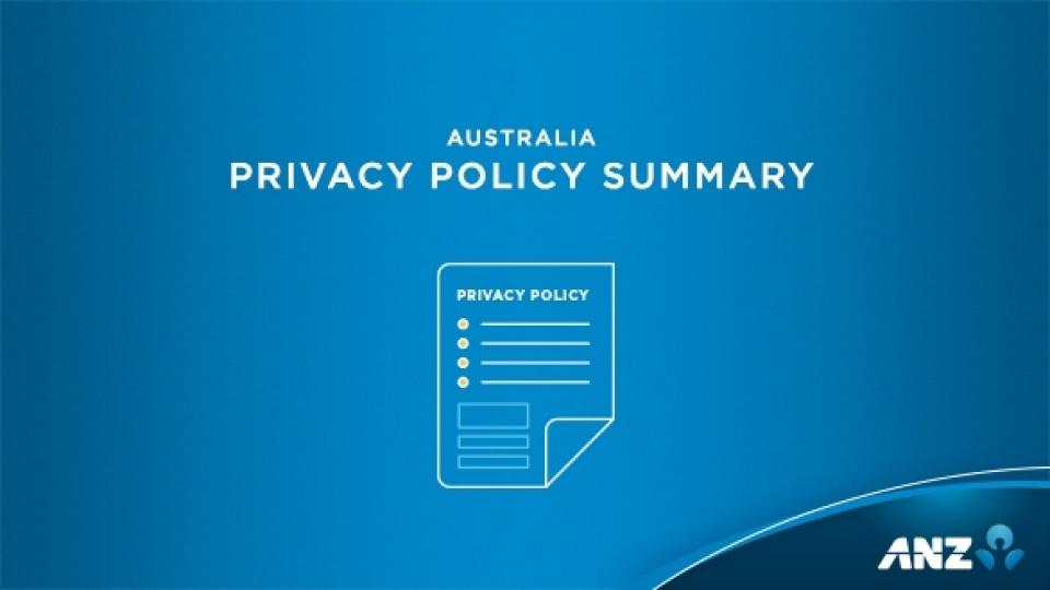 Privacy Policy >> Anz Privacy Centre Anz