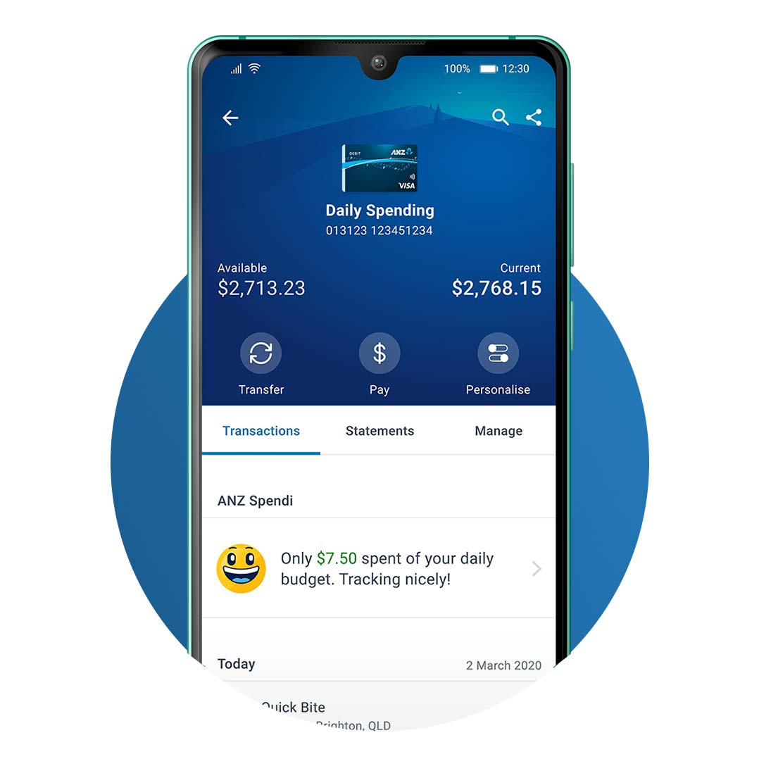 ANZ's spendi app feature tracking for tracking your spending