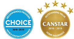 Recognised by Choice and awarded by Canstar